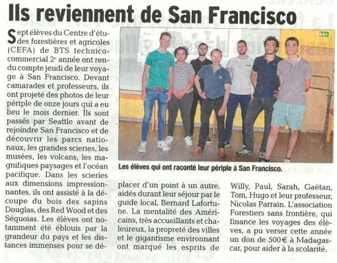 Ils reviennent de San Francisco